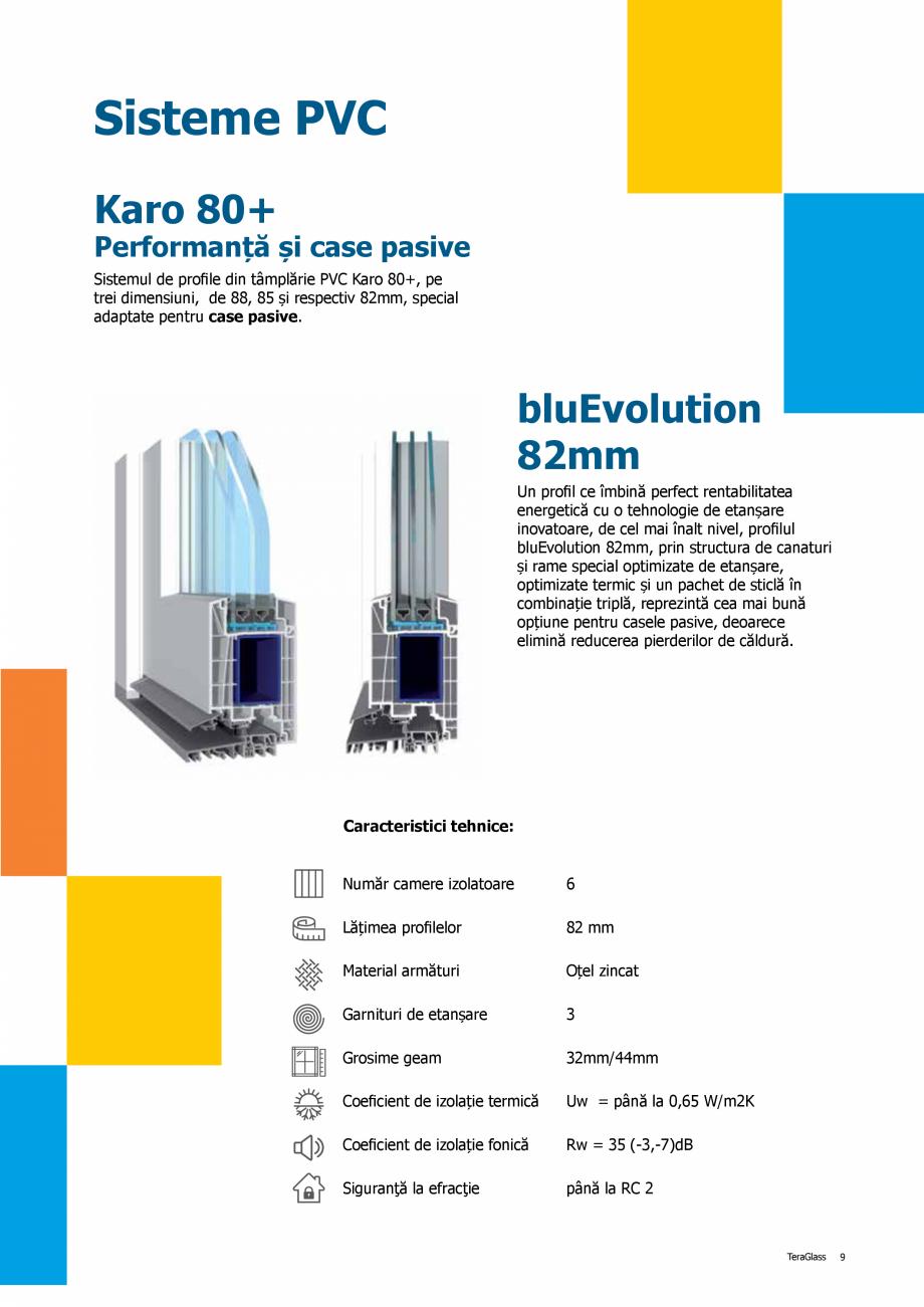 Pagina 9 - Catalog de produse TeraGlass 2020  Catalog, brosura Romana lul PVC cu 7 camere și 88mm...