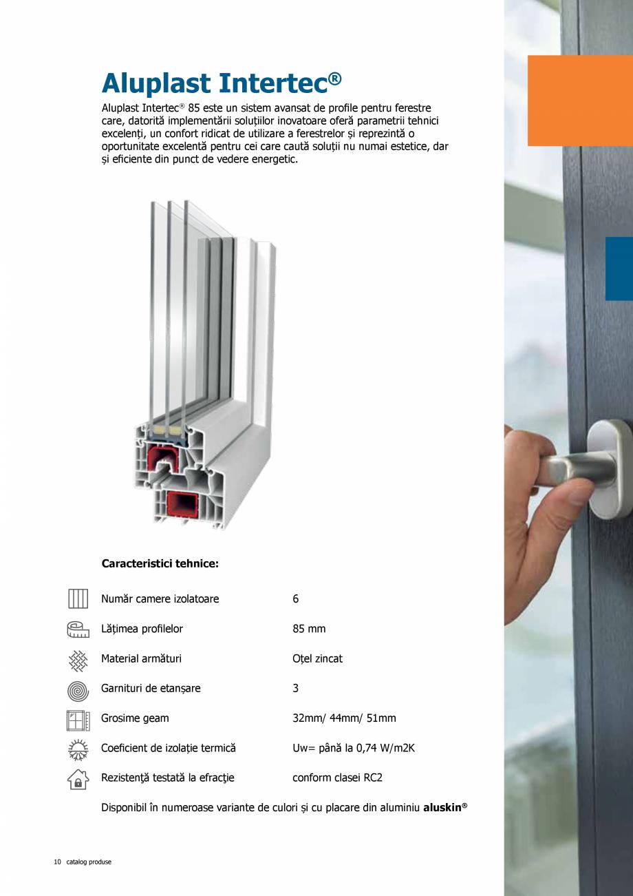 Pagina 10 - Catalog de produse TeraGlass 2020  Catalog, brosura Romana te un sistem de ferestre cu...
