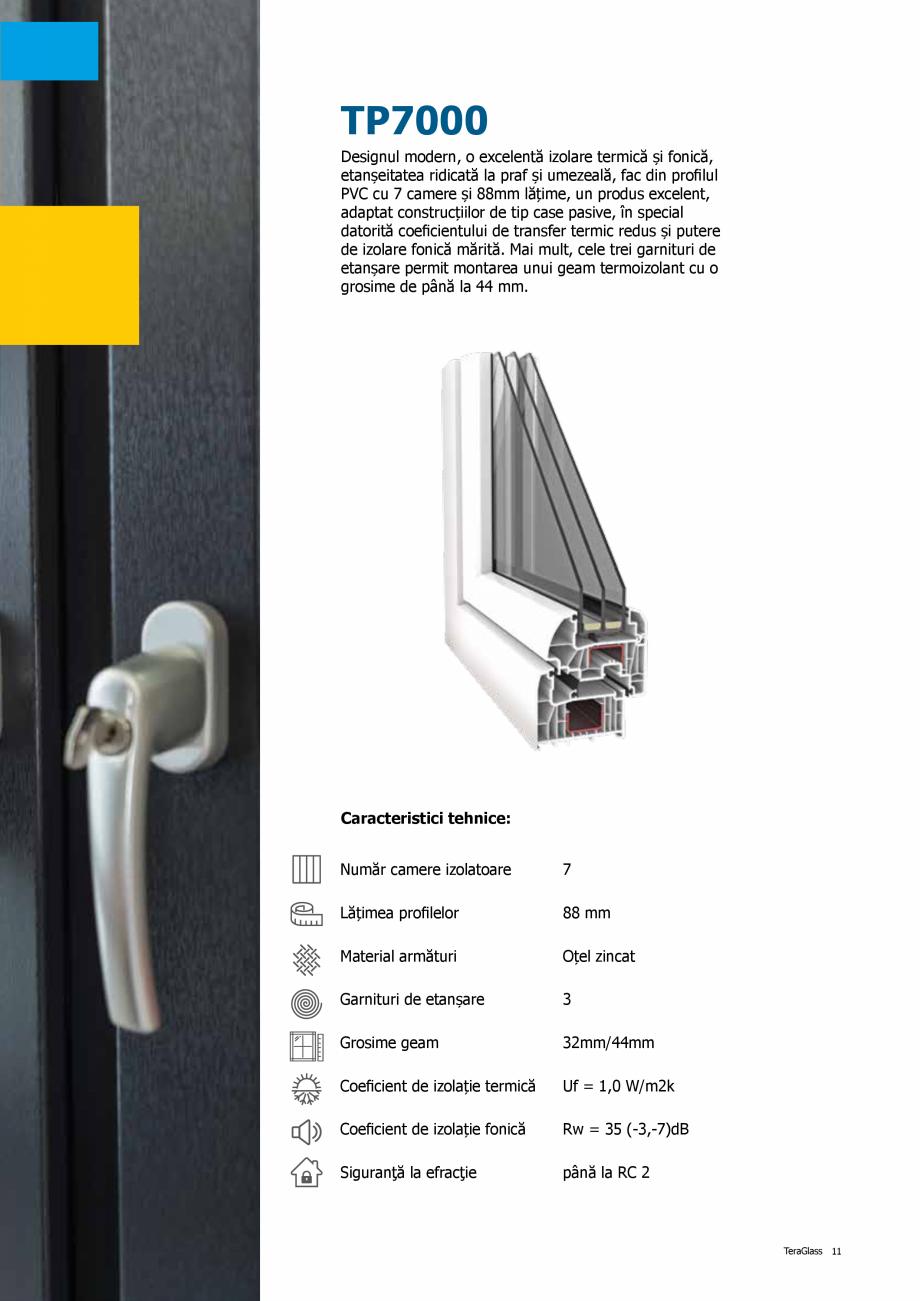 Pagina 11 - Catalog de produse TeraGlass 2020  Catalog, brosura Romana  înălţimea redusă a...
