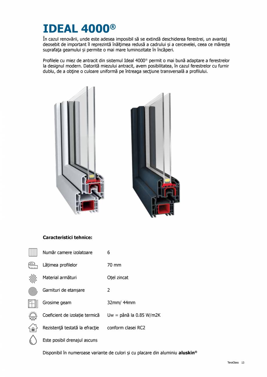 Pagina 13 - Catalog de produse TeraGlass 2020  Catalog, brosura Romana tandard din aluminiu....