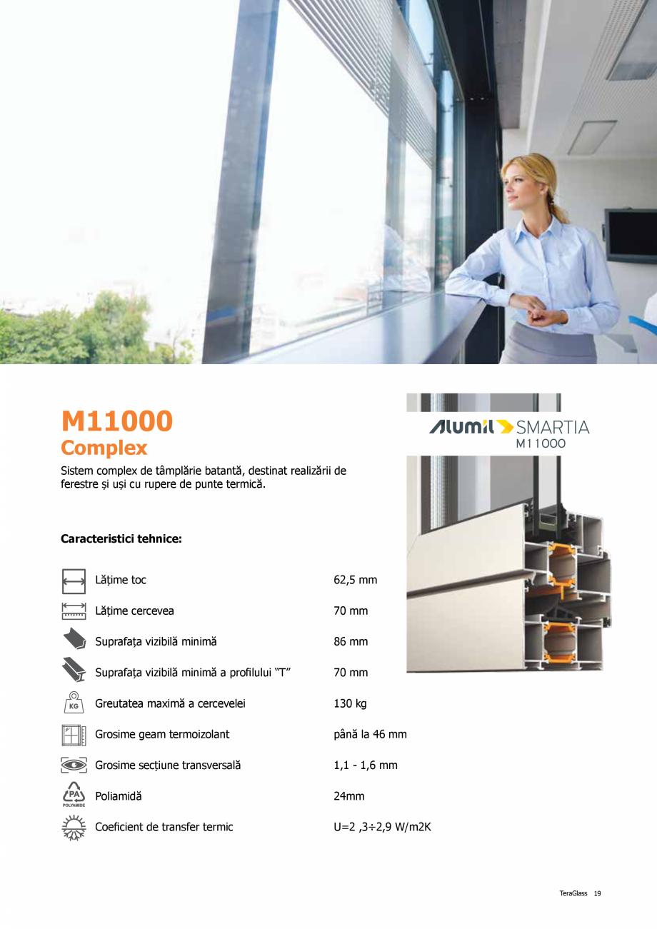 Pagina 19 - Catalog de produse TeraGlass 2020  Catalog, brosura Romana oară. Pentru tâmplăria...