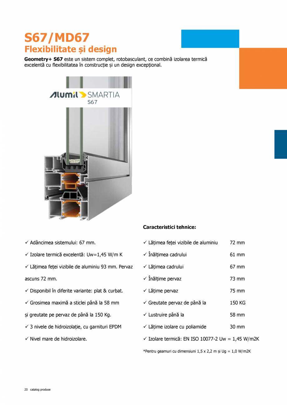 Pagina 20 - Catalog de produse TeraGlass 2020  Catalog, brosura Romana d în același timp aspectul ...