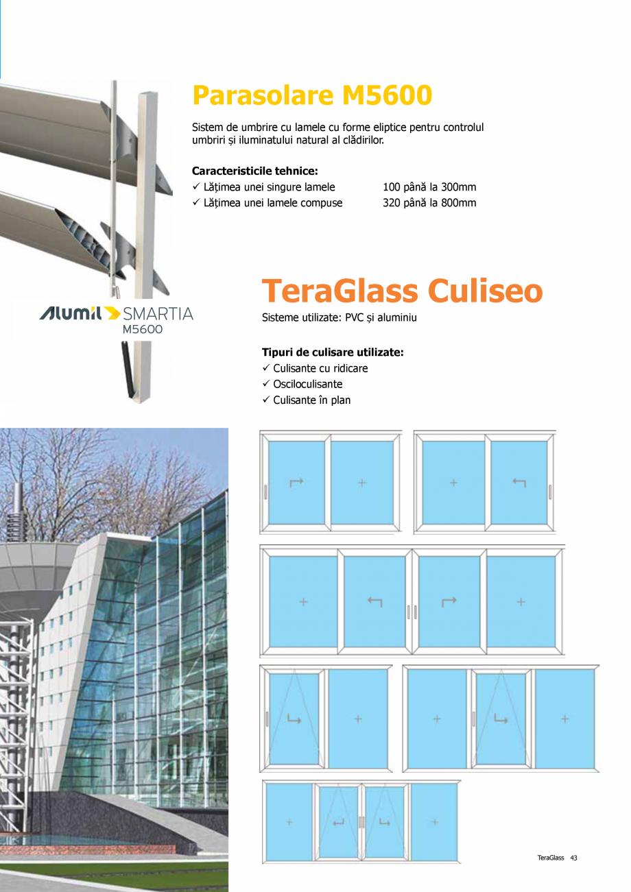 Pagina 43 - Catalog de produse TeraGlass 2020  Catalog, brosura Romana nt planificat, pe 3 planuri...