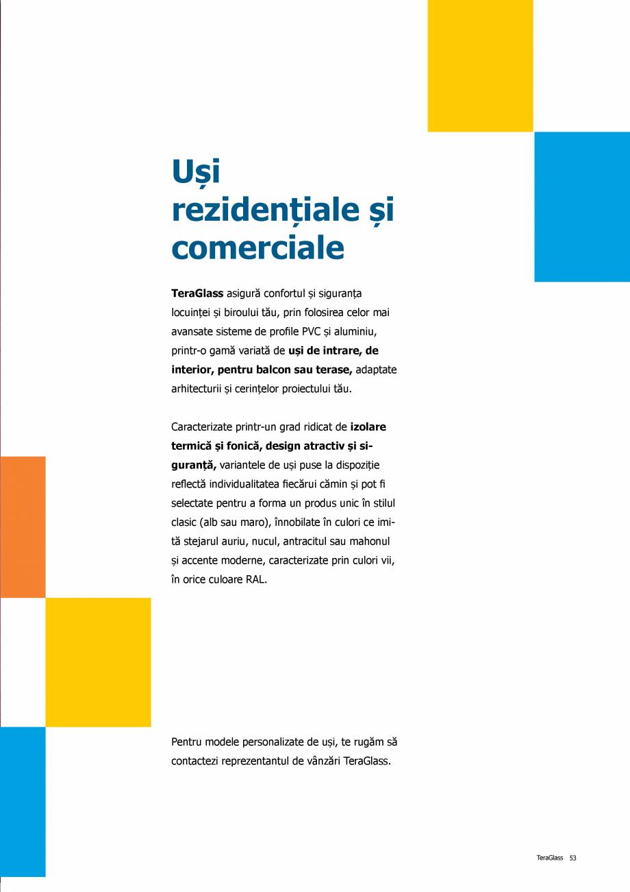 Pagina 53 - Catalog de produse TeraGlass 2020  Catalog, brosura Romana