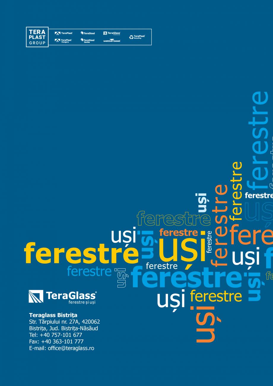 Pagina 84 - Catalog de produse TeraGlass 2020  Catalog, brosura Romana