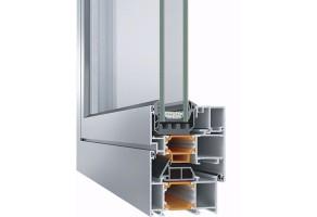 Ferestre din aluminiu cu bariera termica  Ferestrele din aluminiu Geometry+ TeraGlass, cu barieră termică, oferă un nivel de siguranță sporit, flexibilitate în construcție, funcționalitate ridicată și un design atractiv,