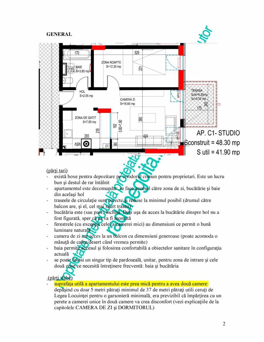 Pagina 2 - Exemplu analiza apartament Radunegoita.ro Ghid de arhitectură Romana montată -...