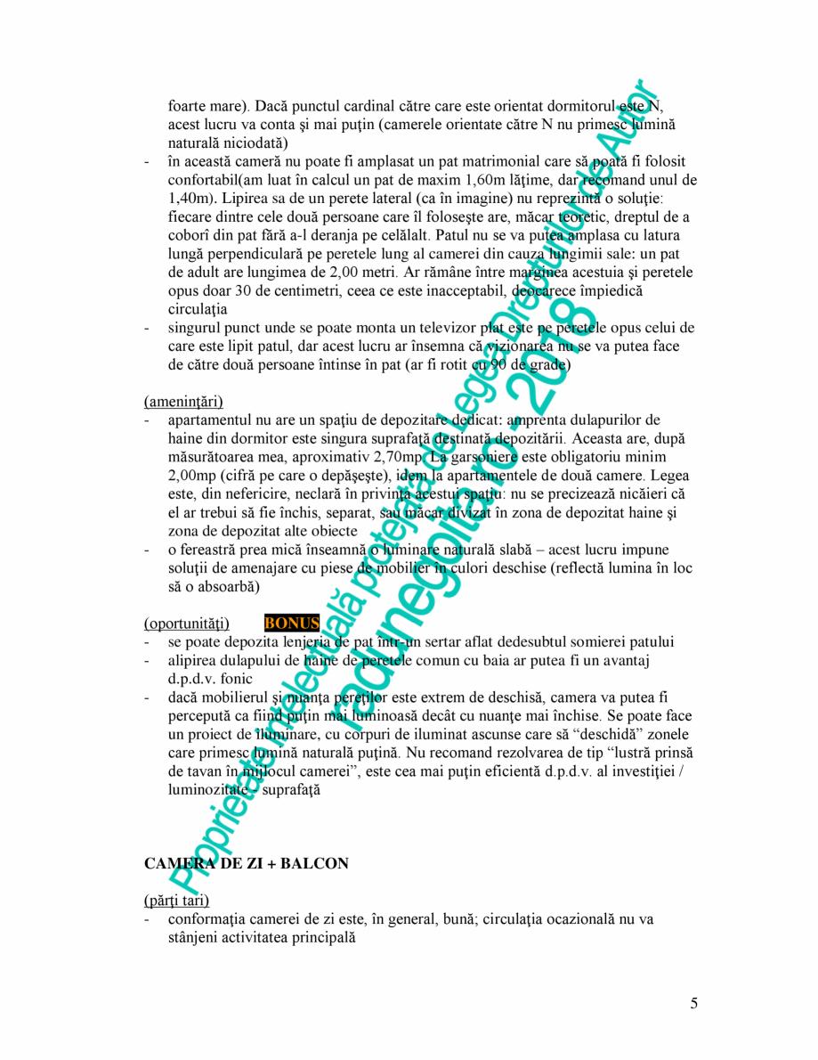 """Pagina 5 - Exemplu analiza apartament Radunegoita.ro Ghid de arhitectură Romana urechea"""" de..."""