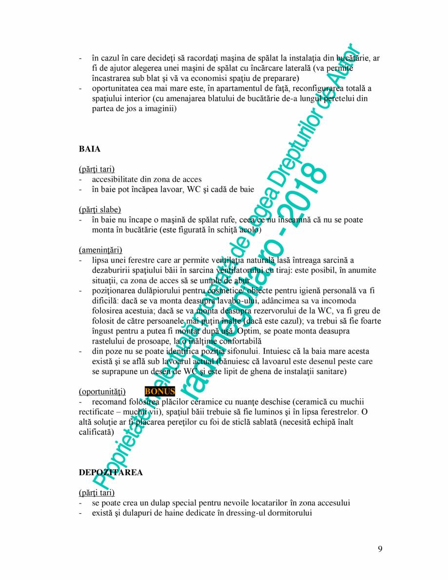 Pagina 9 - Exemplu analiza apartament Radunegoita.ro Ghid de arhitectură Romana �lustră prinsă de...