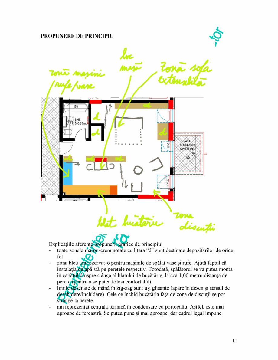 Pagina 11 - Exemplu analiza apartament Radunegoita.ro Ghid de arhitectură Romana rete, mascarea va ...