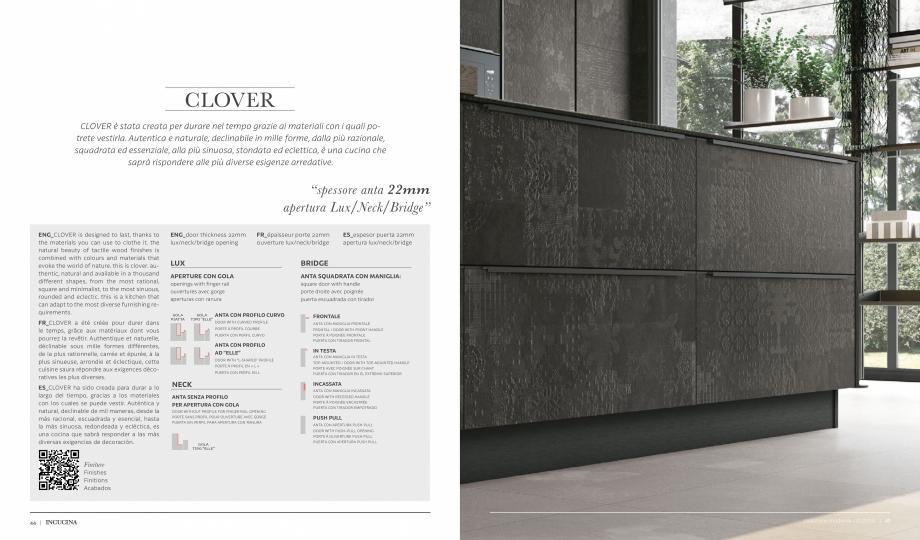 Pagina 1 - Prezentare bucatarie  MOBILA VOGUE Clover Catalog, brosura Italiana, Engleza, Franceza,...