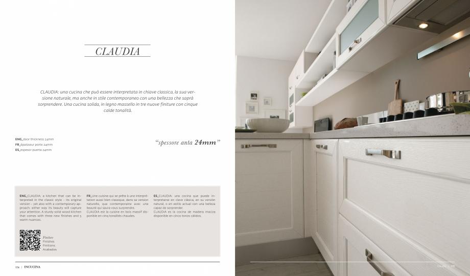 Pagina 1 - Prezentare bucatarie  MOBILA VOGUE Claudia Catalog, brosura Italiana, Engleza, Franceza, ...