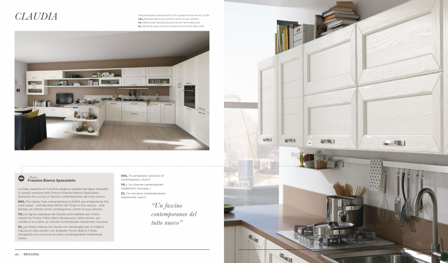Pagina 4 - Prezentare bucatarie  MOBILA VOGUE Claudia Catalog, brosura Italiana, Engleza, Franceza, ...