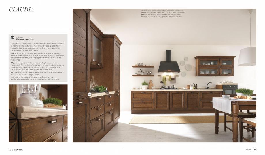 Pagina 5 - Prezentare bucatarie  MOBILA VOGUE Claudia Catalog, brosura Italiana, Engleza, Franceza, ...