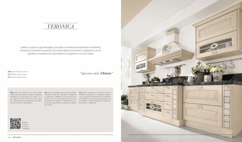 Pagina 1 - Prezentare bucatarie  MOBILA VOGUE Veronica Catalog, brosura Italiana, Engleza, Franceza,...