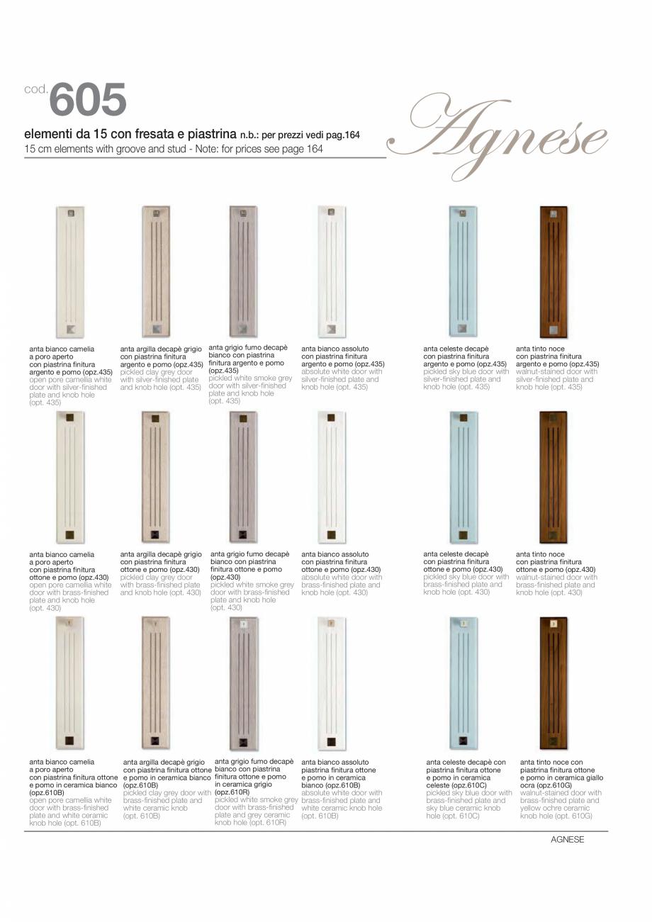 Pagina 11 - Bucataria Agnese - caracteristici tehnice MOBILA VOGUE Fisa tehnica Italiana, Engleza...