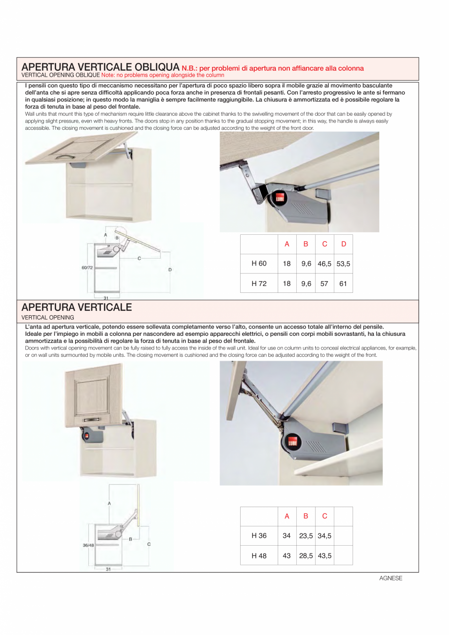 Pagina 17 - Bucataria Agnese - caracteristici tehnice MOBILA VOGUE Fisa tehnica Italiana, Engleza ...