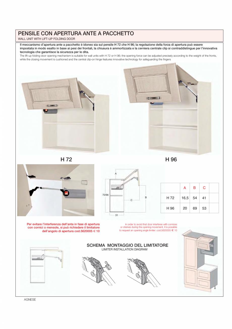 Pagina 18 - Bucataria Agnese - caracteristici tehnice MOBILA VOGUE Fisa tehnica Italiana, Engleza ...