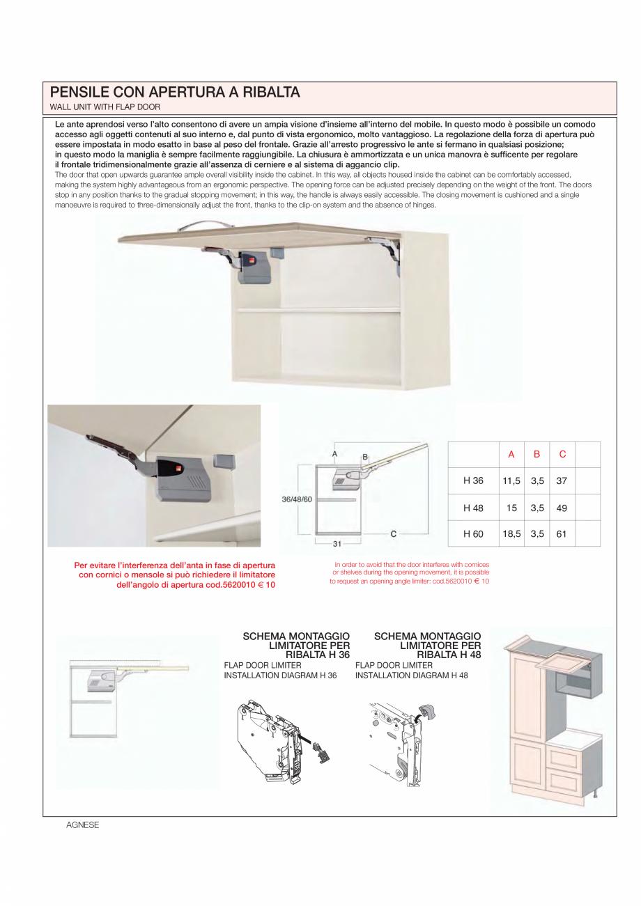 Pagina 20 - Bucataria Agnese - caracteristici tehnice MOBILA VOGUE Fisa tehnica Italiana, Engleza...