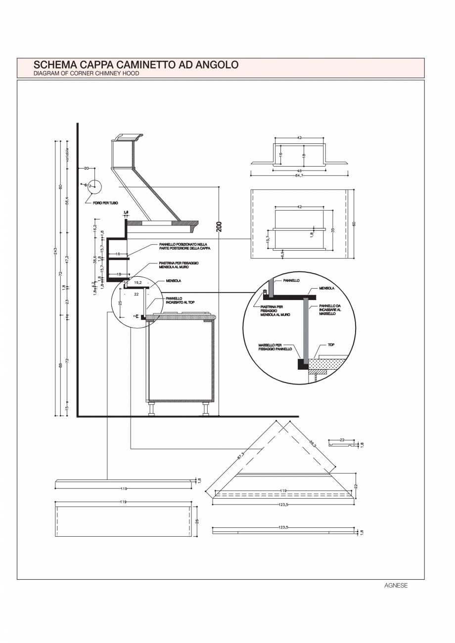 Pagina 25 - Bucataria Agnese - caracteristici tehnice MOBILA VOGUE Fisa tehnica Italiana, Engleza 5)...