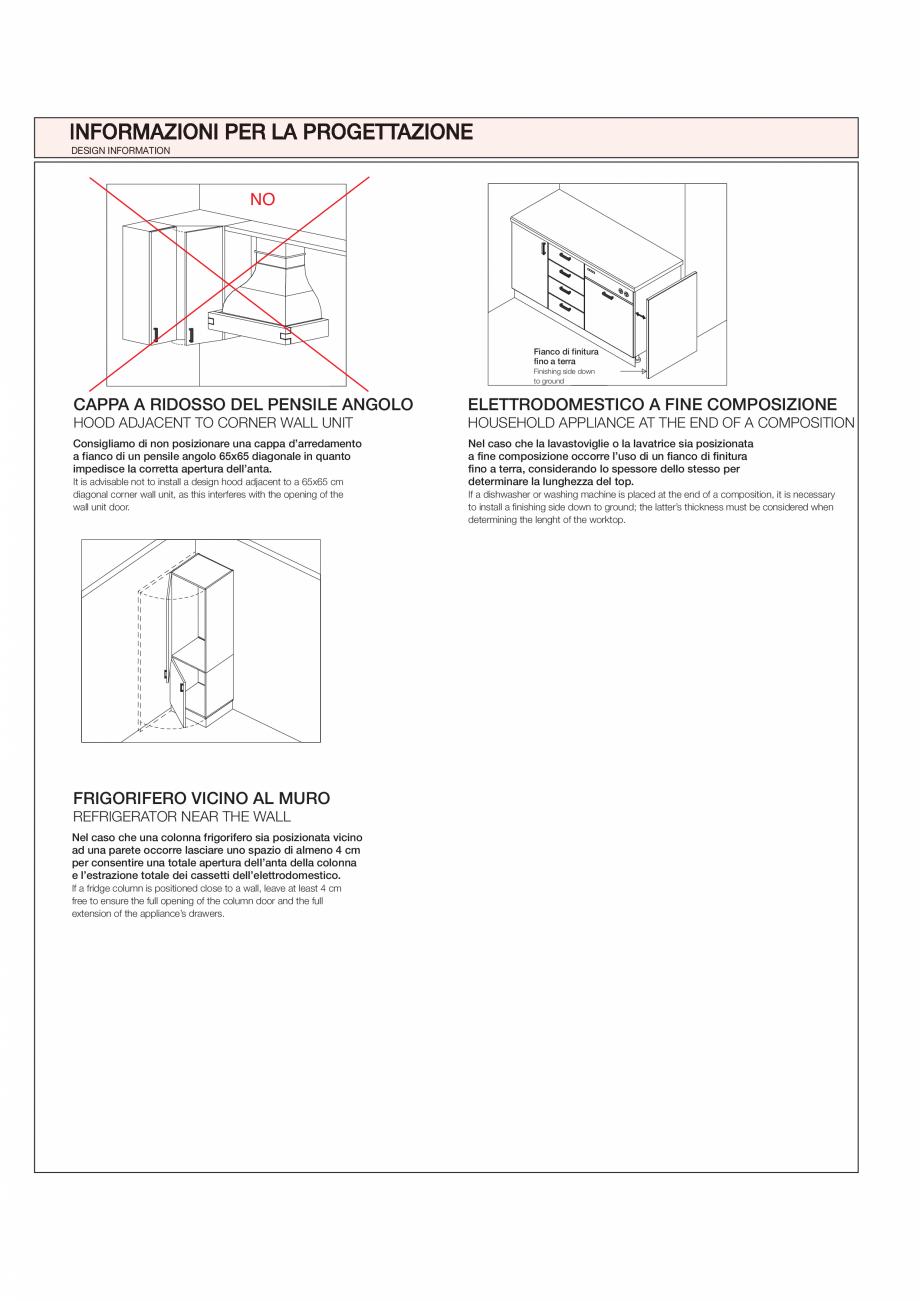 Pagina 31 - Bucataria Agnese - caracteristici tehnice MOBILA VOGUE Fisa tehnica Italiana, Engleza...