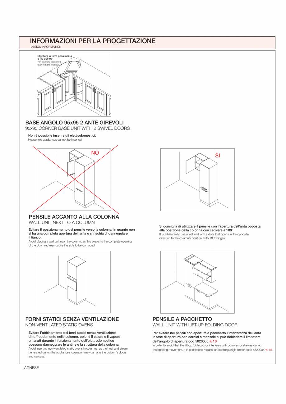 Pagina 32 - Bucataria Agnese - caracteristici tehnice MOBILA VOGUE Fisa tehnica Italiana, Engleza ...