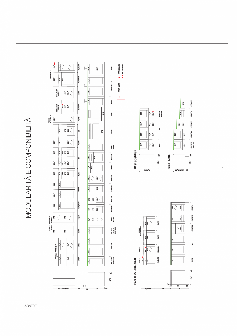 Pagina 33 - Bucataria Agnese - caracteristici tehnice MOBILA VOGUE Fisa tehnica Italiana, Engleza...