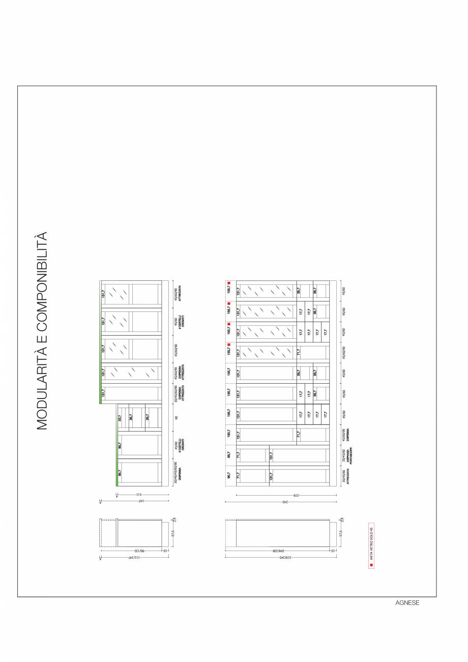 Pagina 34 - Bucataria Agnese - caracteristici tehnice MOBILA VOGUE Fisa tehnica Italiana, Engleza ...