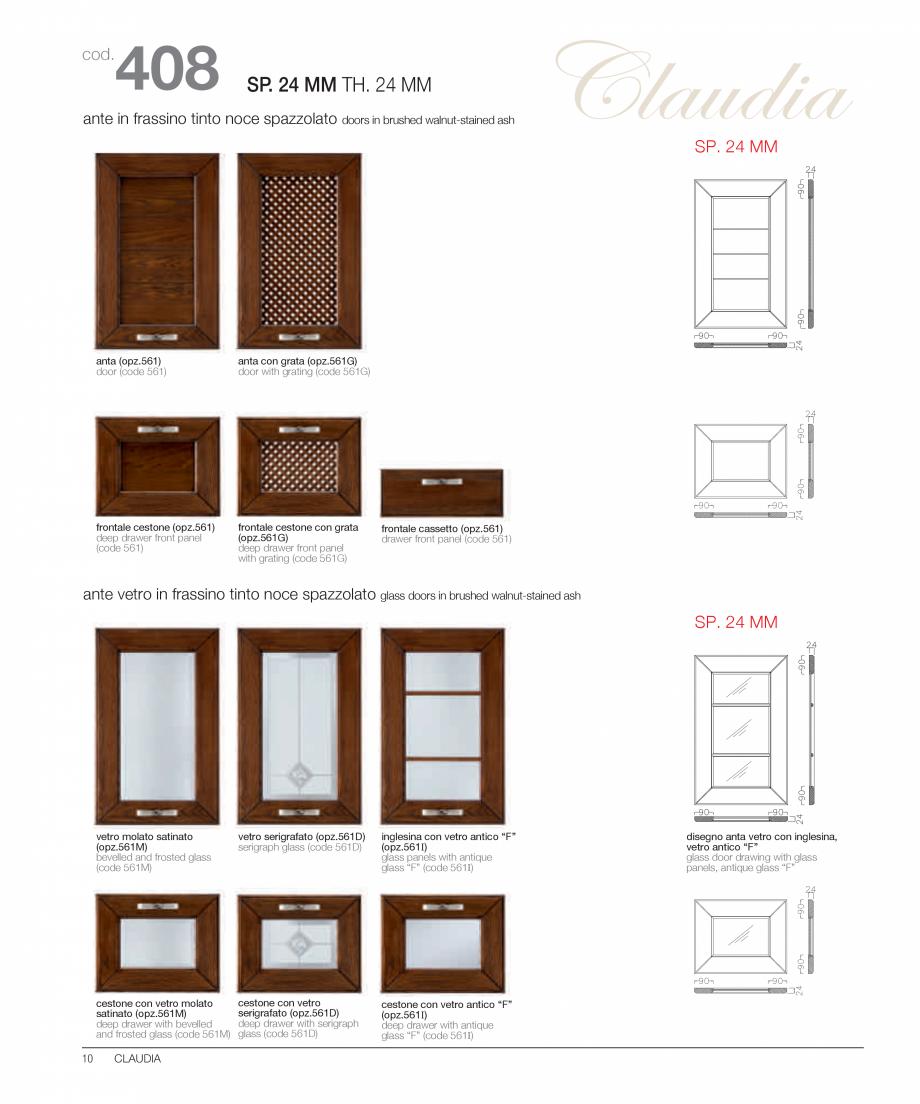 Pagina 5 - Bucataria Claudia - caracteristici tehnice MOBILA VOGUE Fisa tehnica Italiana, Engleza   ...