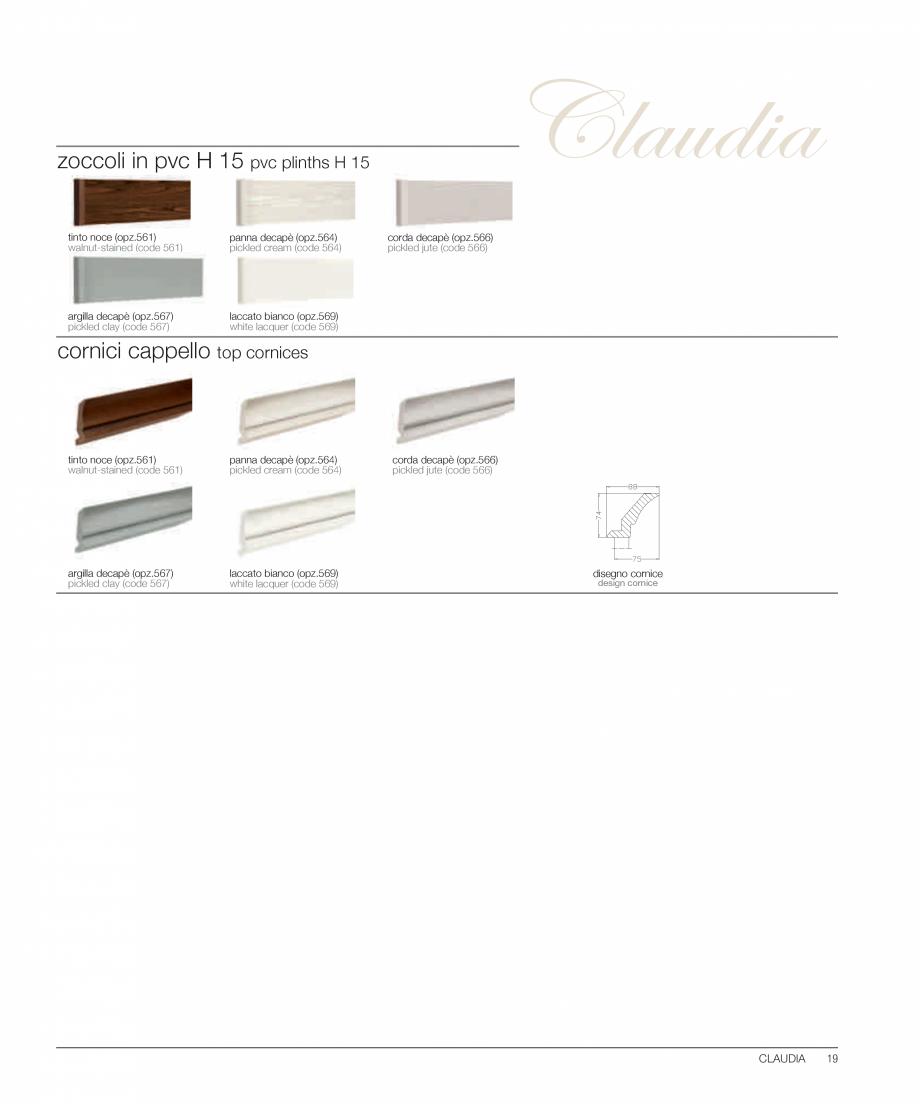 Pagina 14 - Bucataria Claudia - caracteristici tehnice MOBILA VOGUE Fisa tehnica Italiana, Engleza...