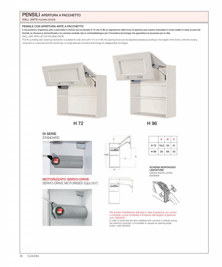 Pagina 19 - Bucataria Claudia - caracteristici tehnice MOBILA VOGUE Fisa tehnica Italiana, Engleza...