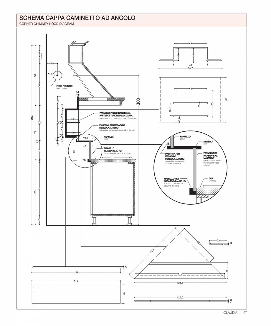 Pagina 28 - Bucataria Claudia - caracteristici tehnice MOBILA VOGUE Fisa tehnica Italiana, Engleza...