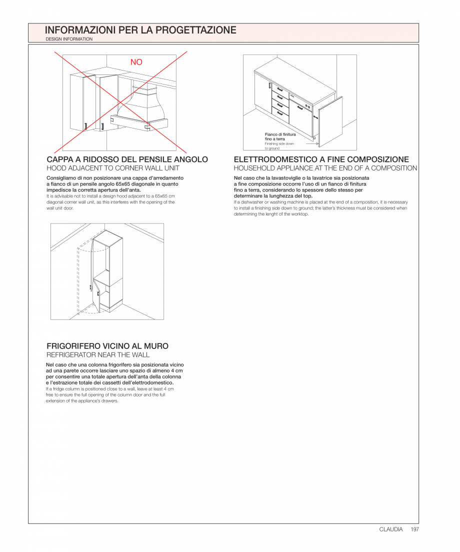 Pagina 36 - Bucataria Claudia - caracteristici tehnice MOBILA VOGUE Fisa tehnica Italiana, Engleza