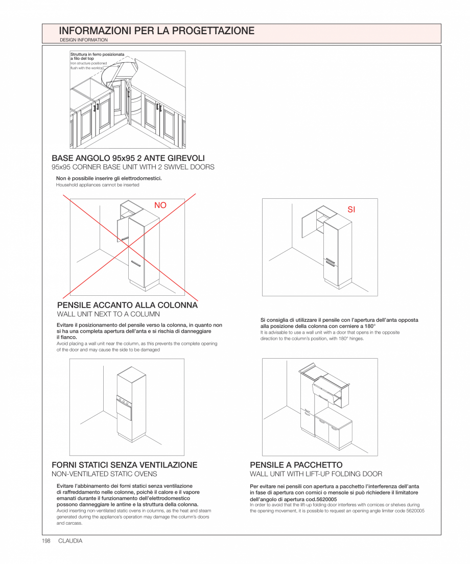 Pagina 37 - Bucataria Claudia - caracteristici tehnice MOBILA VOGUE Fisa tehnica Italiana, Engleza