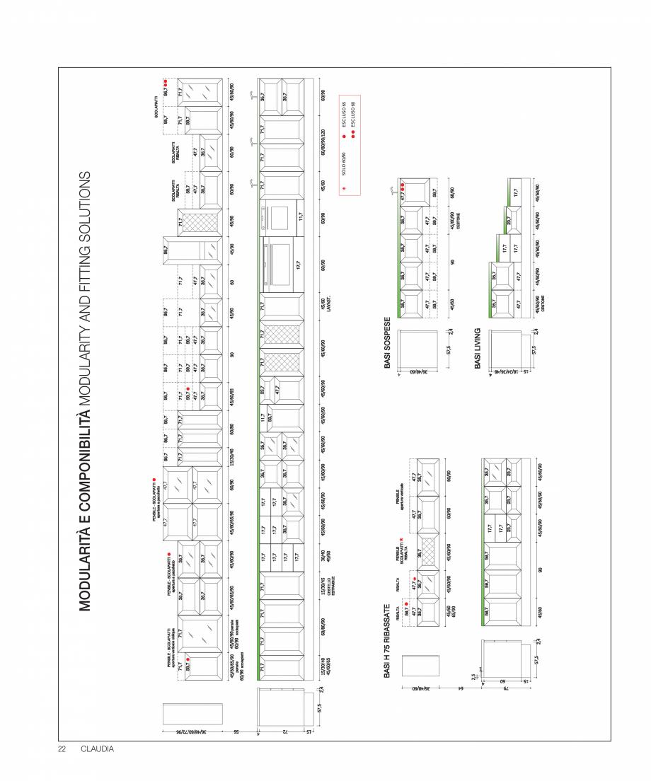 Pagina 38 - Bucataria Claudia - caracteristici tehnice MOBILA VOGUE Fisa tehnica Italiana, Engleza