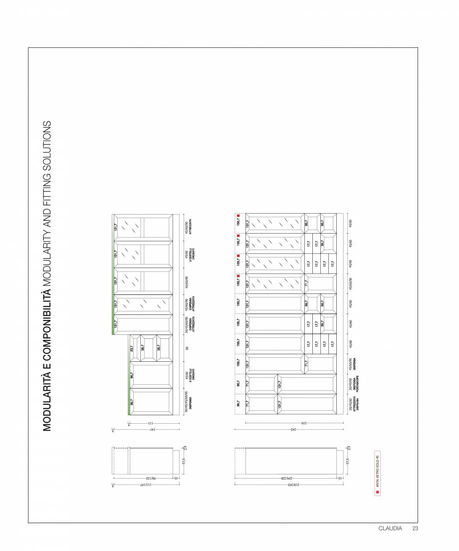 Pagina 39 - Bucataria Claudia - caracteristici tehnice MOBILA VOGUE Fisa tehnica Italiana, Engleza