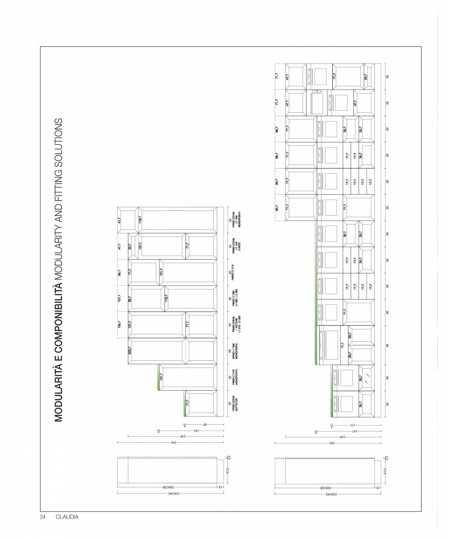 Pagina 40 - Bucataria Claudia - caracteristici tehnice MOBILA VOGUE Fisa tehnica Italiana, Engleza