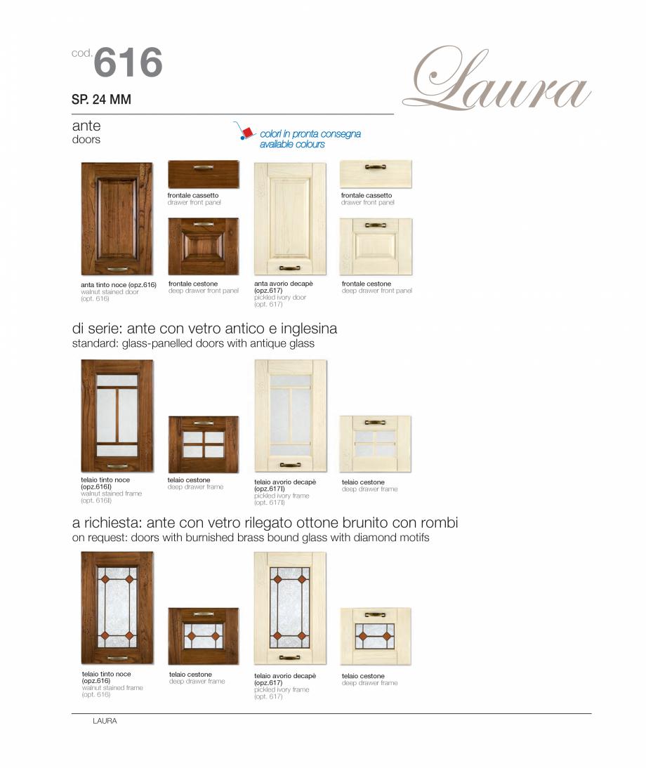 Pagina 5 - Bucataria Laura - caracteristici tehnice MOBILA VOGUE Fisa tehnica Italiana, Engleza sso ...