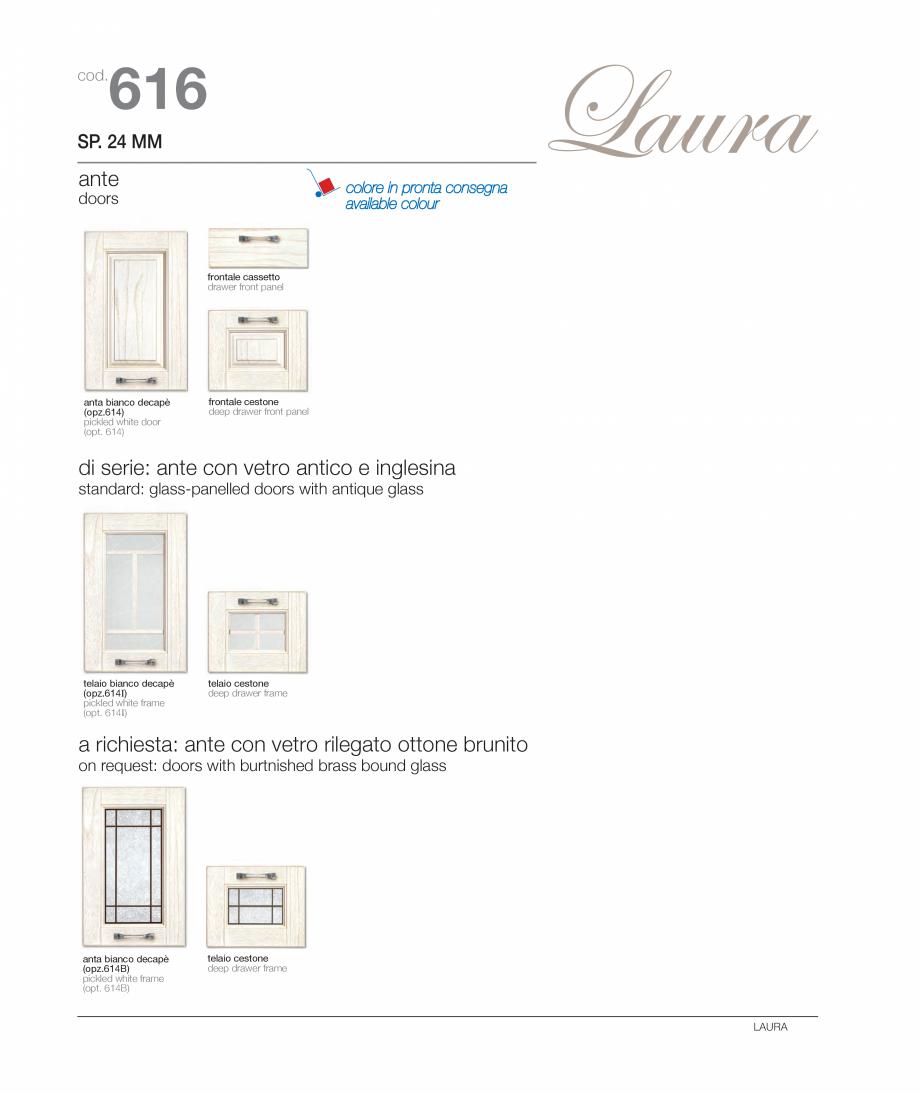 Pagina 6 - Bucataria Laura - caracteristici tehnice MOBILA VOGUE Fisa tehnica Italiana, Engleza ...