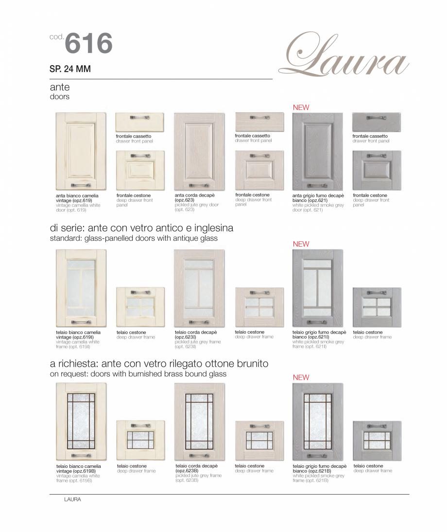 Pagina 7 - Bucataria Laura - caracteristici tehnice MOBILA VOGUE Fisa tehnica Italiana, Engleza e:...
