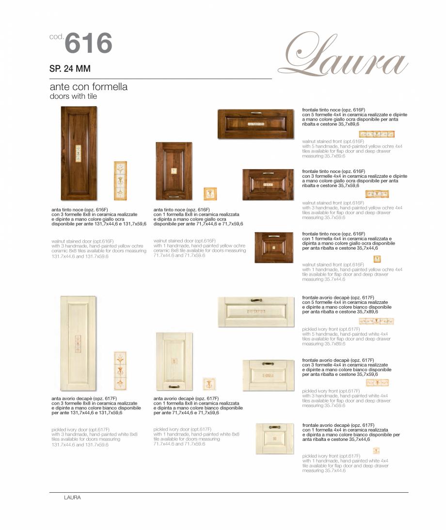 Pagina 9 - Bucataria Laura - caracteristici tehnice MOBILA VOGUE Fisa tehnica Italiana, Engleza nce ...