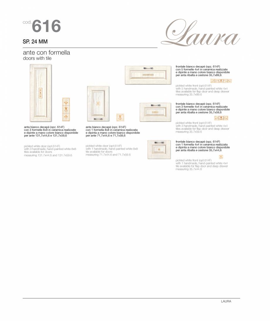 Pagina 10 - Bucataria Laura - caracteristici tehnice MOBILA VOGUE Fisa tehnica Italiana, Engleza ...