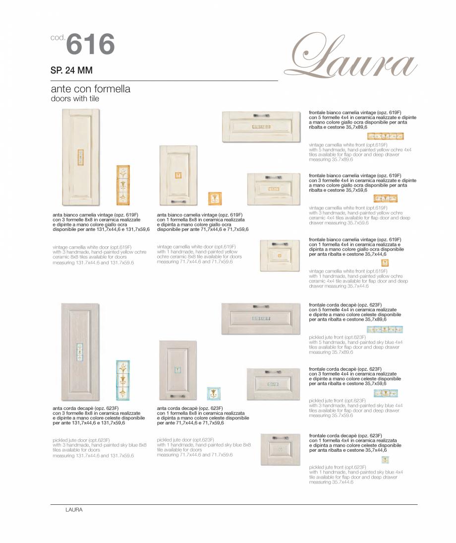 Pagina 11 - Bucataria Laura - caracteristici tehnice MOBILA VOGUE Fisa tehnica Italiana, Engleza...