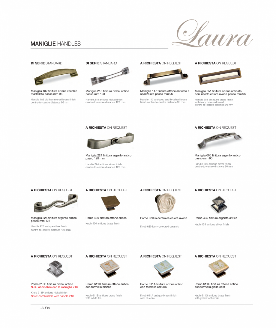 Pagina 15 - Bucataria Laura - caracteristici tehnice MOBILA VOGUE Fisa tehnica Italiana, Engleza...