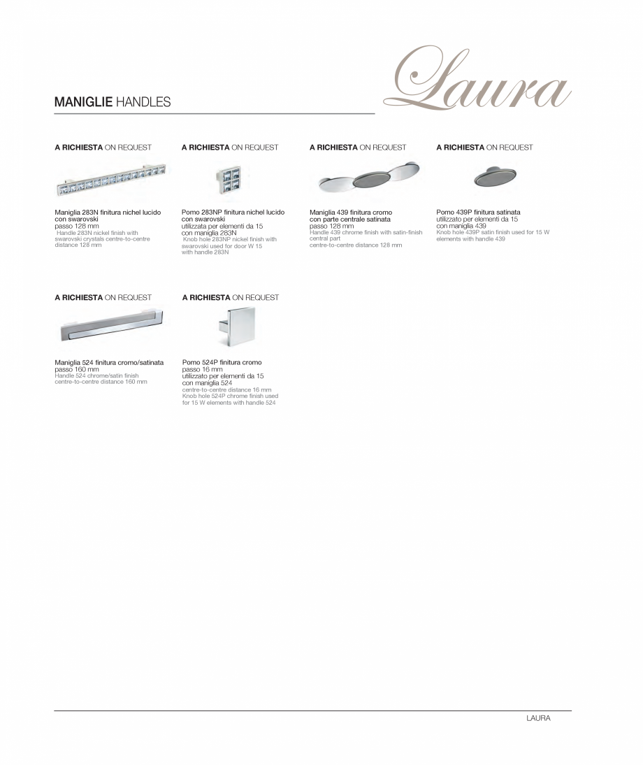 Pagina 16 - Bucataria Laura - caracteristici tehnice MOBILA VOGUE Fisa tehnica Italiana, Engleza 6F)...