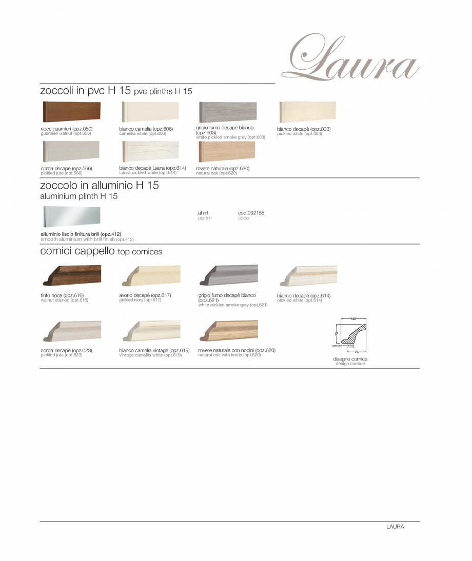 Pagina 18 - Bucataria Laura - caracteristici tehnice MOBILA VOGUE Fisa tehnica Italiana, Engleza...