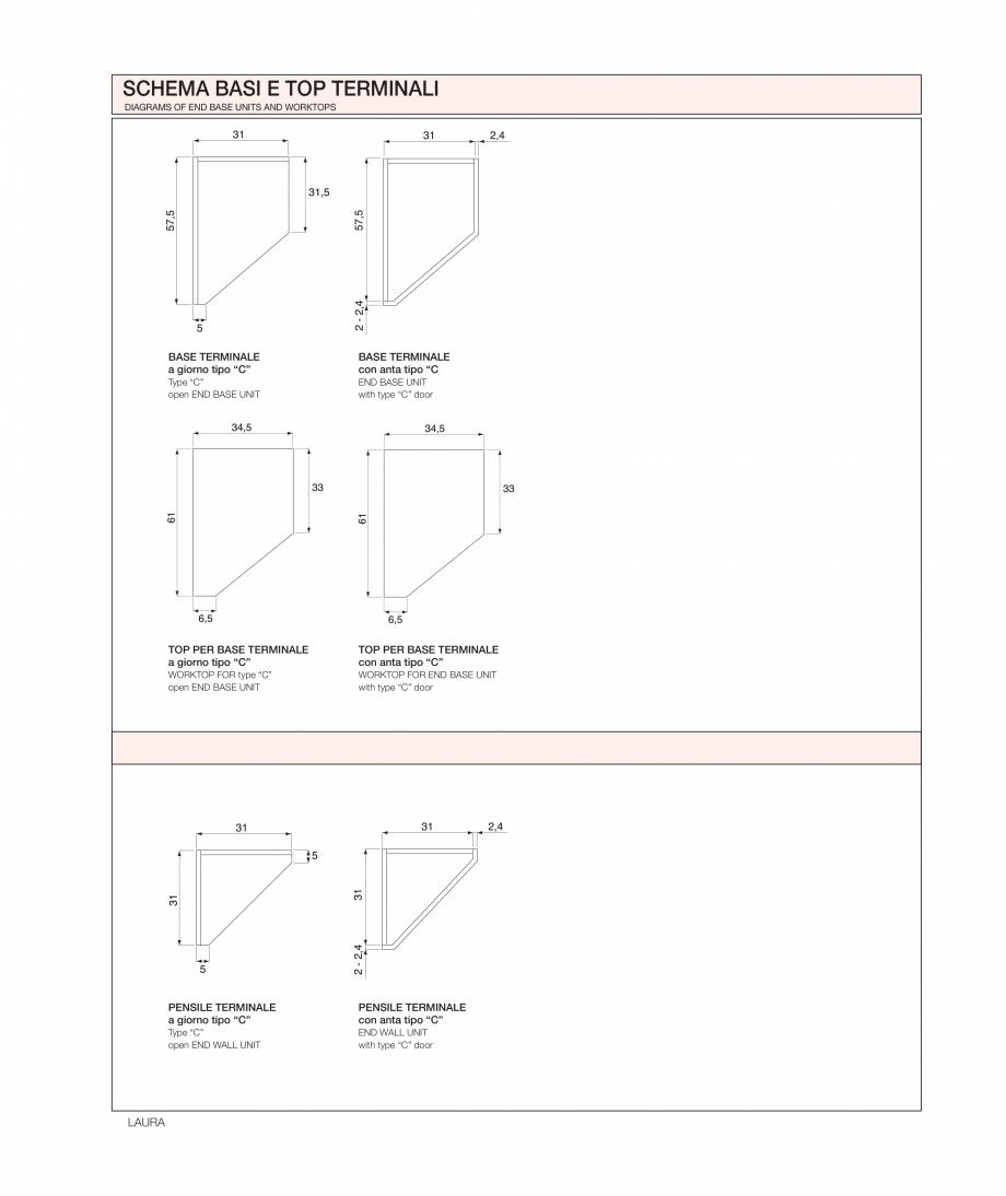 Pagina 33 - Bucataria Laura - caracteristici tehnice MOBILA VOGUE Fisa tehnica Italiana, Engleza...