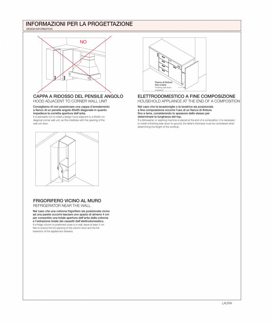 Pagina 36 - Bucataria Laura - caracteristici tehnice MOBILA VOGUE Fisa tehnica Italiana, Engleza...