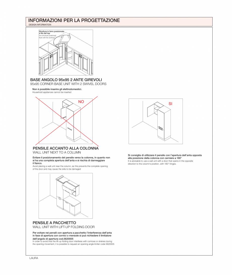 Pagina 37 - Bucataria Laura - caracteristici tehnice MOBILA VOGUE Fisa tehnica Italiana, Engleza ned...