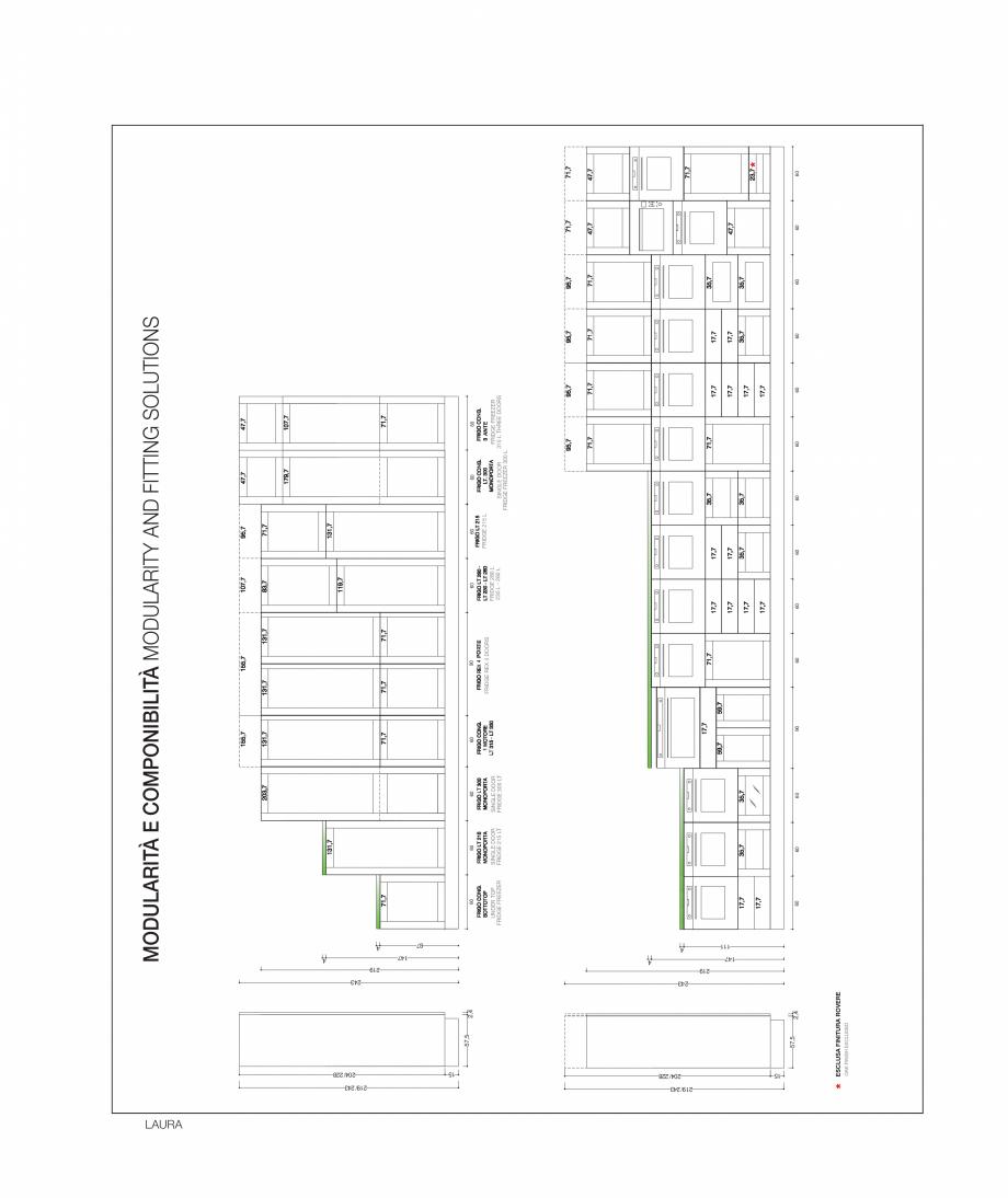 Pagina 40 - Bucataria Laura - caracteristici tehnice MOBILA VOGUE Fisa tehnica Italiana, Engleza 7  ...